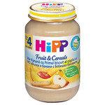 HIPP Бебешка пълнозърнеста каша ябълки, банани и бисквити 4м+ 190 гр.